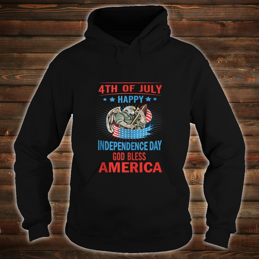 Independence Day God Bless America Eagle Patriot Design Shirt hoodie