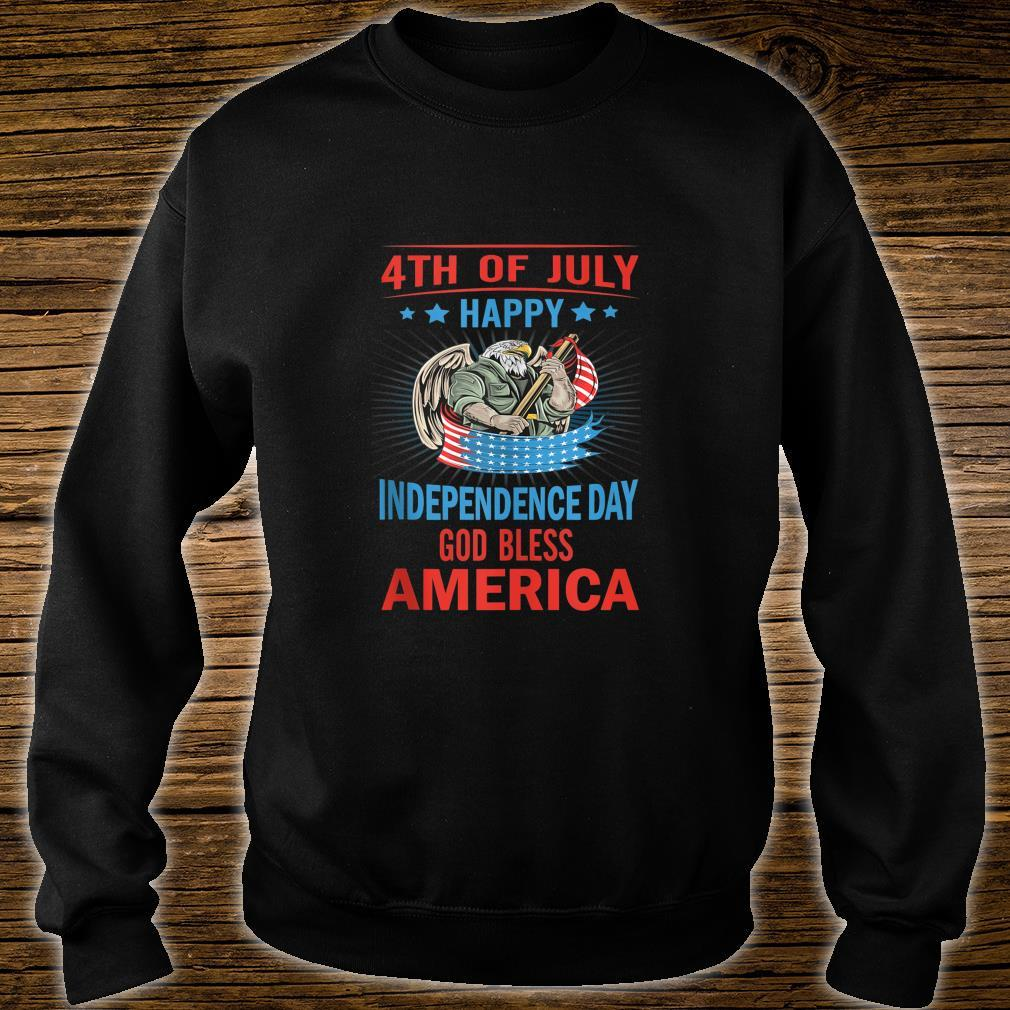 Independence Day God Bless America Eagle Patriot Design Shirt sweater