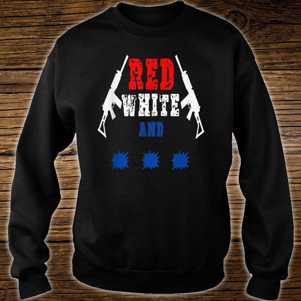 Red white and pew_ pew_ pew Independence Day Shirt sweater