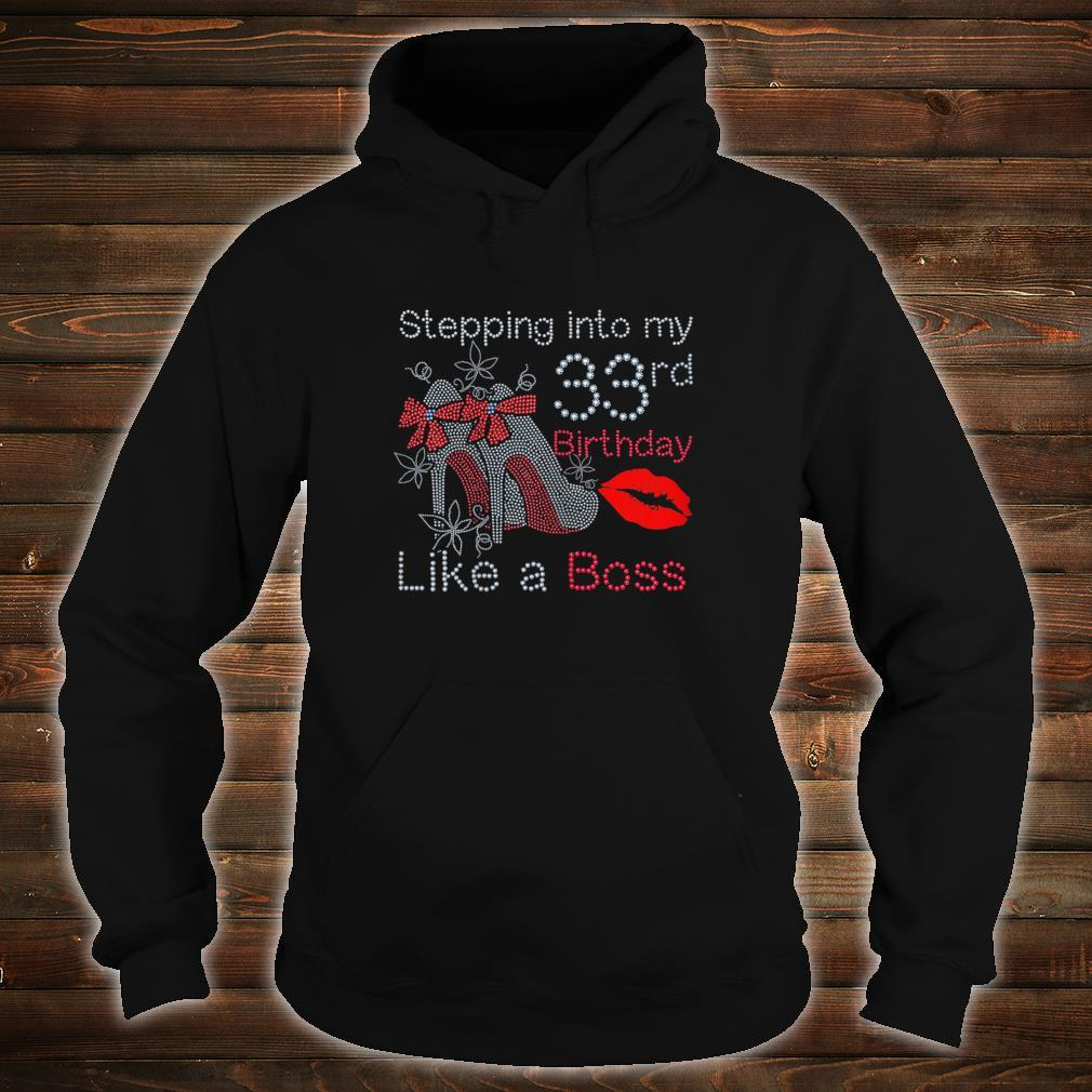 Stepping into my 33rd Birthday in 1986 Shirt hoodie
