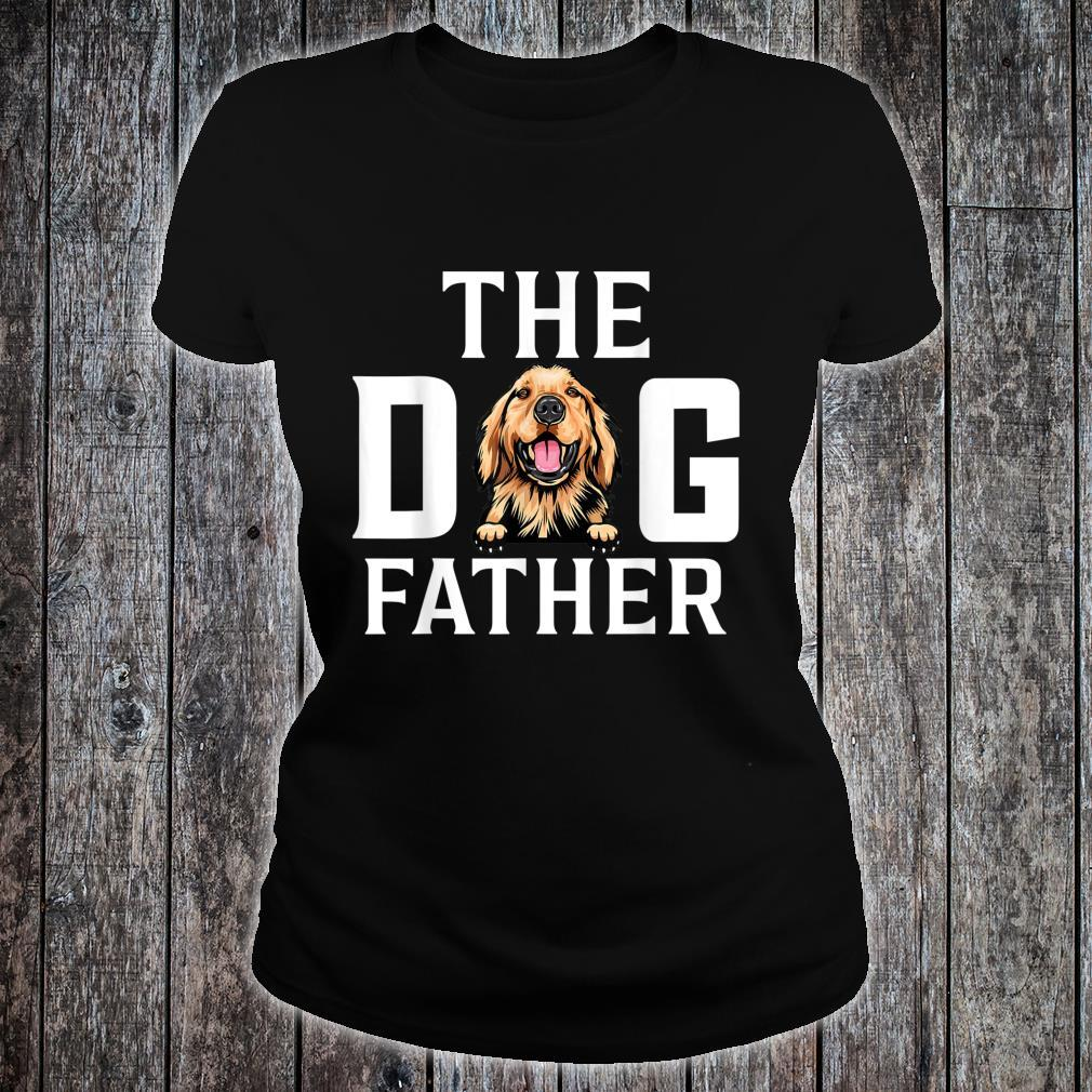 The Dogfather Basset hound Dog Owner Father Day Shirt ladies tee
