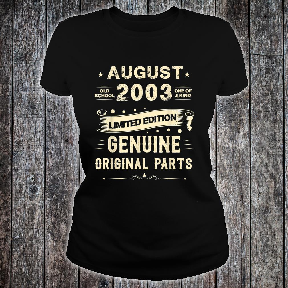 Vintage August Shirt 2003 Birthday For 16 Yrs Old G1 Shirt ladies tee